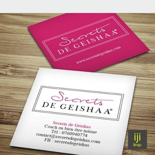 Le secret de Geisha business card